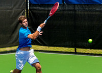Keivon Tabrizi follows through at the Winston-Salem Open