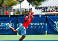 Sanam Singh follows through at the Winston-Salem Open
