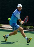 Radu Albot chases down the ball at the Winston-Salem Open