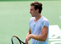 Ernests Gulbis competes at the Winston-Salem Open