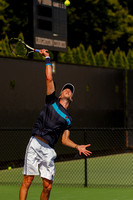 Andreas Seppi plays at the Winston-Salem Open