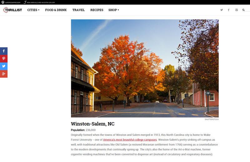 Thrillist.com - Winston-Salem
