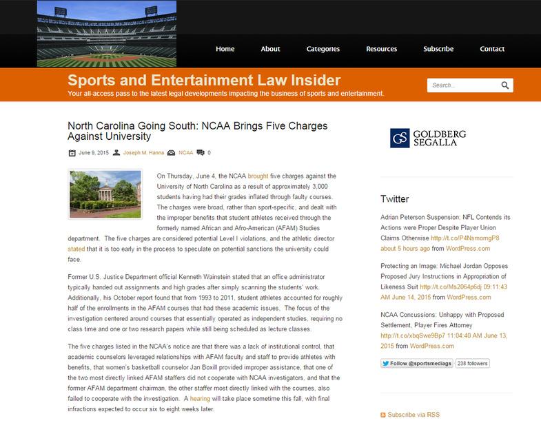 Sports Law Insider - UNC