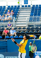 Yen-hsun Lu plays at the Winston-Salem Open