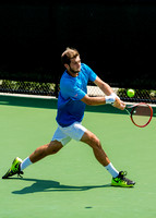 Keivon Tabrizi reaches for a return at the Winston-Salem Open