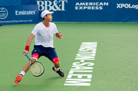 Yen-Hsun Lu changes direction at the Winston-Salem Open